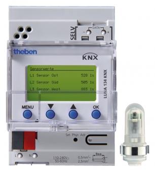 THEBEN 1349200 LUNA134 KNX Dämmerungsschalter/Lichtsteuergerät