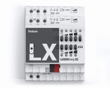 THEBEN 4800470 LUXORliving D2 Universal-Dimmaktor 2-fach