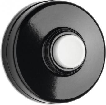 THPG 100881 Klingeltaster Bakelit schwarz mit weißem Taster