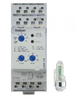 THEBEN LUNA110AL Analoger Dämmerungsschalter Aufbau-Lichtsensor