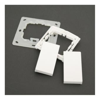 VOLTUS EHAK02 Montageset für Funktaster Enocean, Zigbee, KNX RF Reinweiß