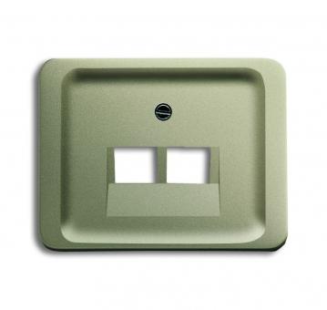 busch jaeger 1803 02 260 abdeckung f r netzwerkdosen 2fach. Black Bedroom Furniture Sets. Home Design Ideas