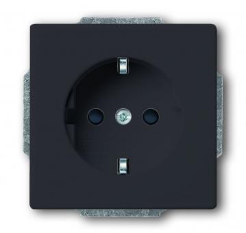 busch jaeger 20 euc 81 schuko steckdosen einsatz anthrazit online kaufen im voltus elektro shop. Black Bedroom Furniture Sets. Home Design Ideas
