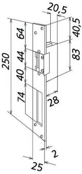 siedle t 625 0 r elektrischer t r ffner f r din rechts und links aufgehende t r online kaufen. Black Bedroom Furniture Sets. Home Design Ideas