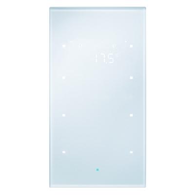 berker 75643134 glas sensor 3fach mit raumtemperaturregler konfiguriert glas alu online kaufen. Black Bedroom Furniture Sets. Home Design Ideas