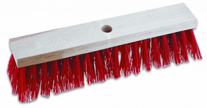 Cimco-143024 Straßenbesen ohne Stiel, Farbe rot, 400mm, grobe u
