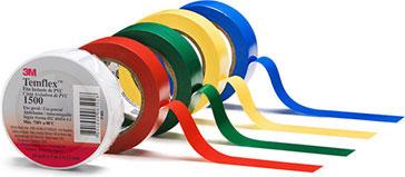 3M TemFlex 1500 PVC Isolierband 10m  x 15mm  x 0,15mm weiß