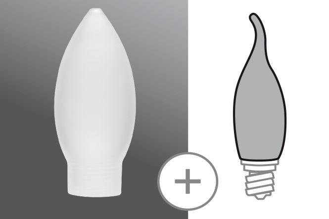 PAULMANN 870.05 Glas Minihalogen Kerze