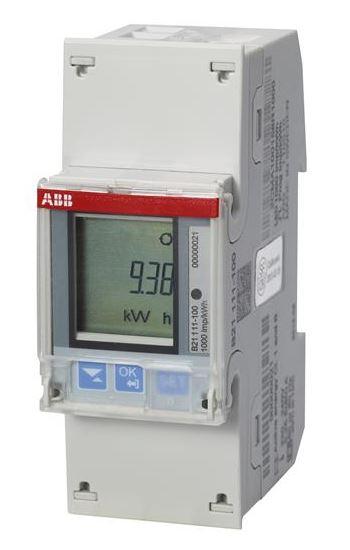 ABB B21 111-100 Wechselstromzähler einphasig (1+N) stahl