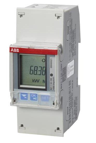 ABB B21 112-100 Wechselstromzähler einphasig (1+N) stahl
