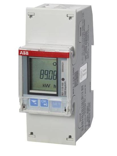 ABB B21 113-100 Wechselstromzähler einphasig (1+N) stahl