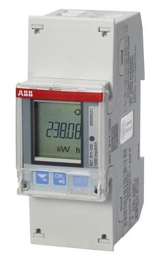 ABB B21 311-100 Wechselstromzähler einphasig (1+N) silber