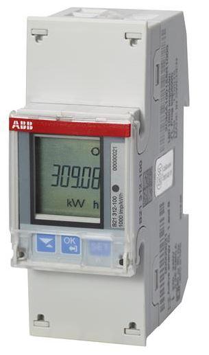 ABB B21 312-100 Wechselstromzähler einphasig (1+N) silber