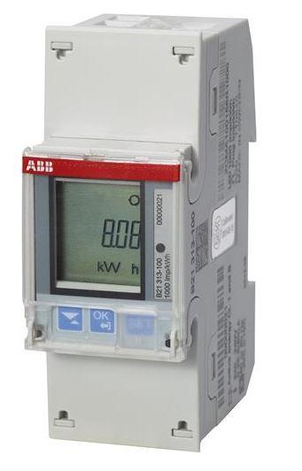 ABB B21 313-100 Wechselstromzähler einphasig (1+N) silber
