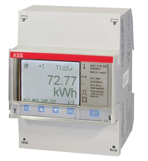 ABB A41 113 - 100 Wechselstromzähler einphasig (1+N) stahl