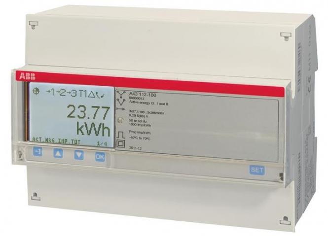 ABB A43 112-100 Drehstromzähler 3-phasig (3+N) stahl