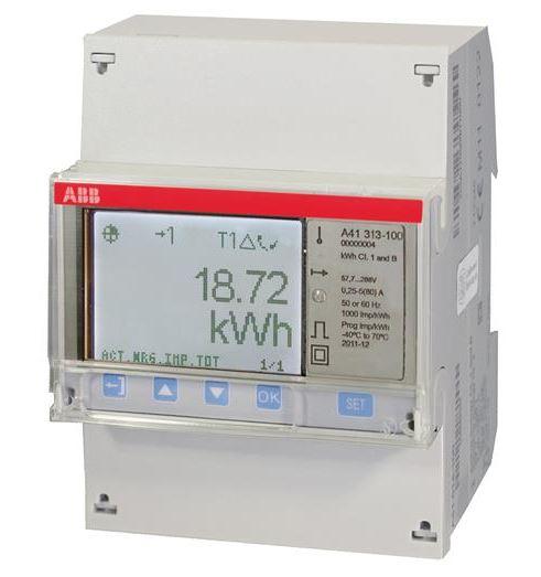 ABB A41 313-100 Wechselstromzähler einph. (1+N) silber