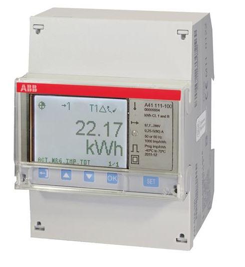 ABB A41 111-100 Wechselstromzähler einphasig (1+N) stahl