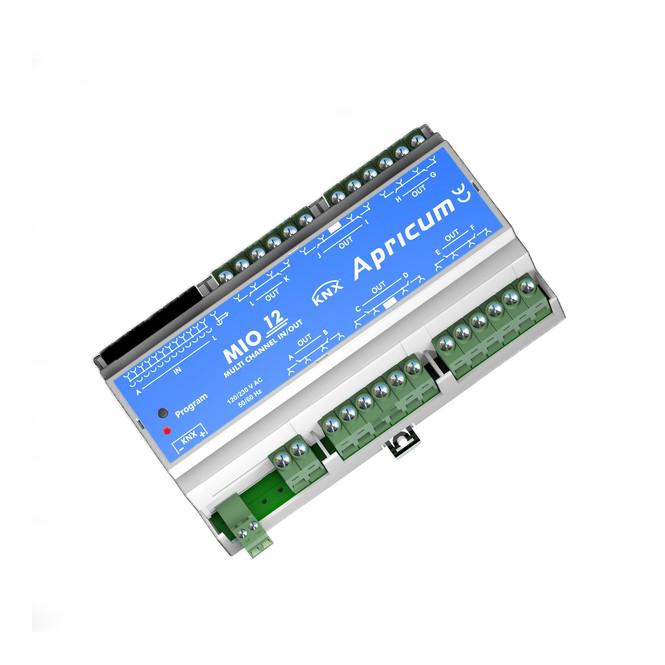 APRICUM MIO-KNX12 KNX Sensor / Aktor 24 Kanäle