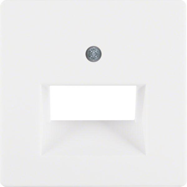 BERKER 14096089 Abdeckung für ISDN/Netzwerkdose 2-fach