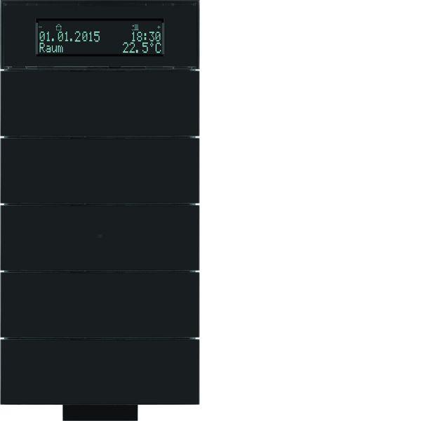 berker 75665692 b iq ir tastsensor 5fach mit temperaturregler glas schwarz online kaufen im. Black Bedroom Furniture Sets. Home Design Ideas