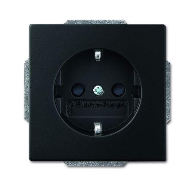 busch jaeger 20 eucbli 885 schuko steckdosen einsatz busch. Black Bedroom Furniture Sets. Home Design Ideas