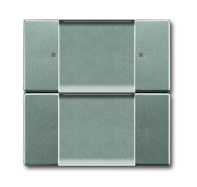 busch jaeger 6736 01 803 wandsender zigbee light link 2 kanal graumetallic online kaufen im. Black Bedroom Furniture Sets. Home Design Ideas