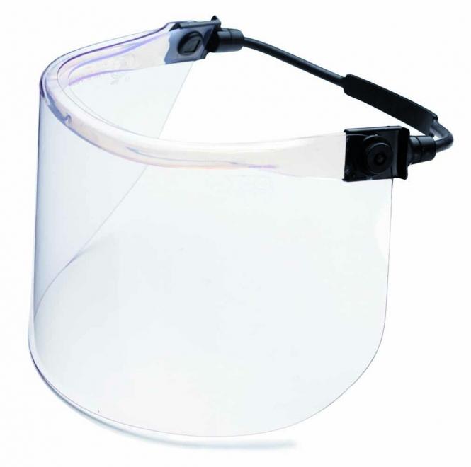 CIMCO 140204 Gesichts-Schutzschirm für Schutzhelm, glasklar