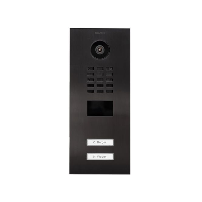 DOORBIRD D2102V IP Video Türstation Edelstahl Titan-Optik UP-Montage 2 Ruftasten