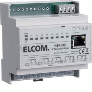 ELCOM 1903300 IP Netzwerkrelais NSR-300 REG lichtgrau
