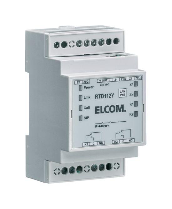 ELCOM RTD112Y IP-Netzwerk Relais SIP PoE REG lichtgrau