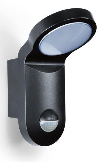 esylux aol100led 3k led leuchte mit bewegungsmelder schwarz online kaufen im voltus elektro shop. Black Bedroom Furniture Sets. Home Design Ideas