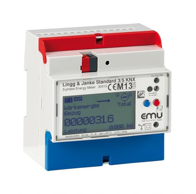LINGG&JANKE EZ-EMU-DSTD-D-REG-FW EMU Standard KNX REG Energiezähler TE 5 Standard direktmessend (3-ph.), 0,25-5(75)