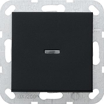 GIRA 0136005 Tast-Kontrollschalter Universal-Aus-Wechselschalter Schwarz matt
