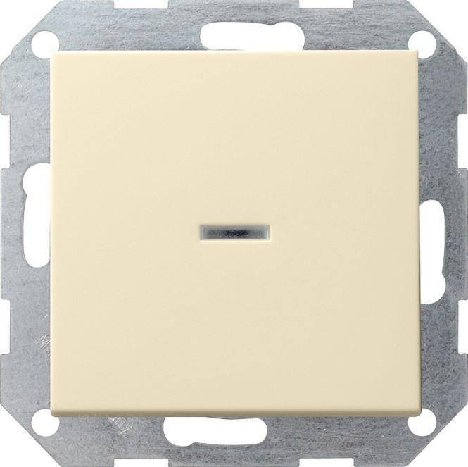 GIRA 013601 Tast-Kontrollschalter Universal-Aus-Wechselschalter Cremeweiß glänzend