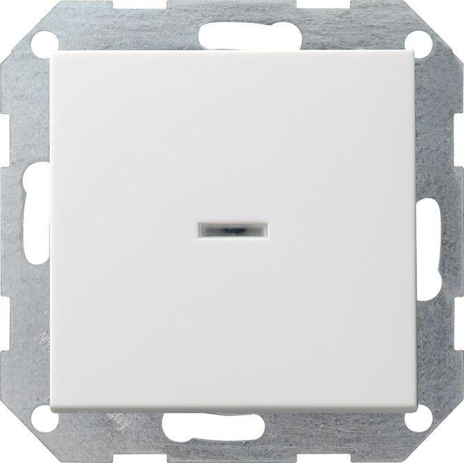 GIRA 013627 Tast-Kontrollschalter Universal-Aus-Wechselschalter Reinweiß seidenmatt