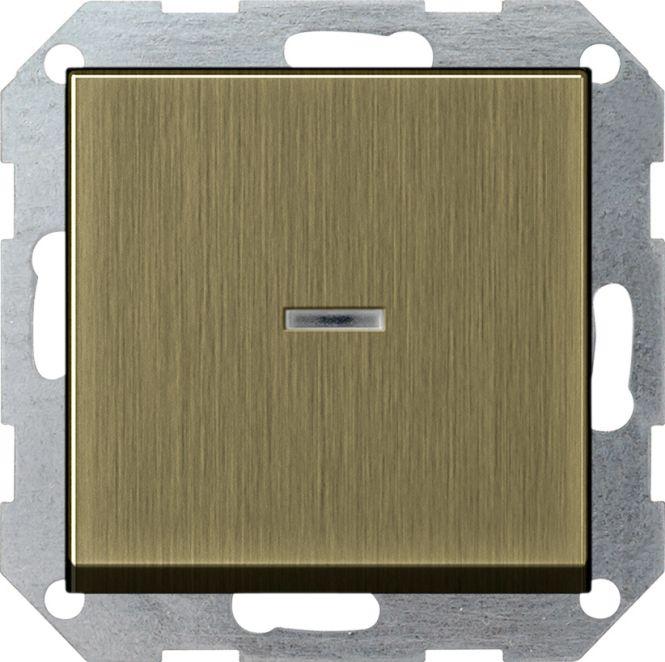 GIRA 0136603 Tast-Kontrollschalter Universal-Aus-Wechselschalter Bronze