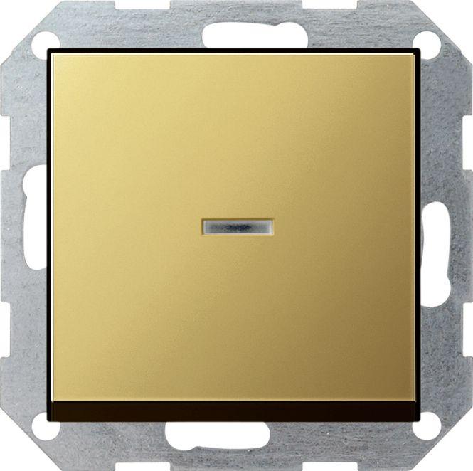 GIRA 0136604 Tast-Kontrollschalter Universal-Aus-Wechselschalter Messing