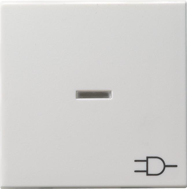 GIRA 020903 Kontrollwippe mit Symbol -Steckdose- Reinweiß glänzend