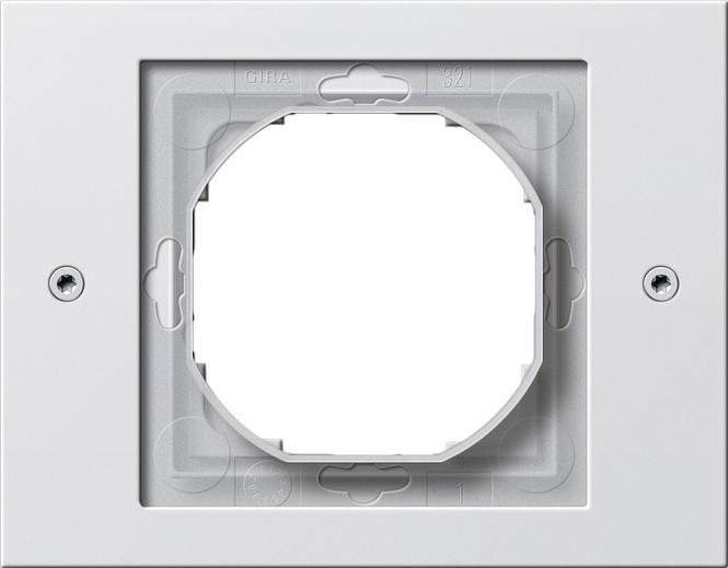 GIRA 021166 Rahmen mit Dichtungsflansch für Kombinationen Reinweiß 1fach