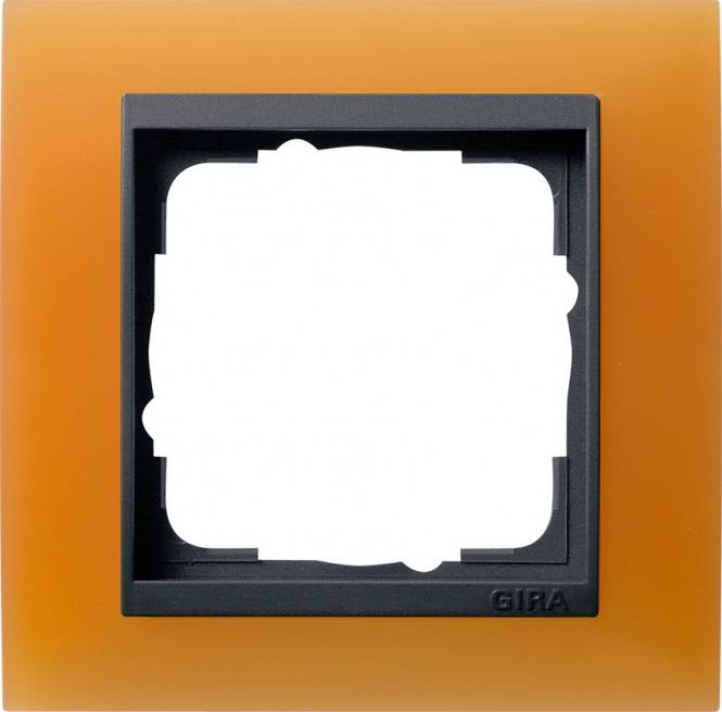 gira 021187 abdeckrahmen event opak orange 1fach online. Black Bedroom Furniture Sets. Home Design Ideas