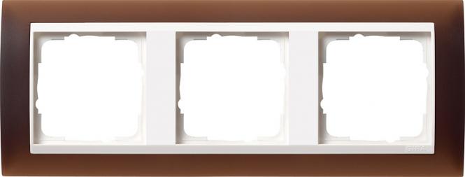 gira 0213331 abdeckrahmen event opak dunkelbraun 3 fach online kaufen im voltus elektro shop. Black Bedroom Furniture Sets. Home Design Ideas