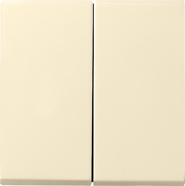 GIRA 029501 Serienwippe 2fach Cremeweiß glänzend