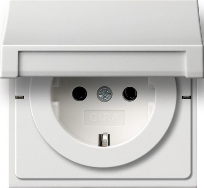 gira 0454112 schuko steckdose mit klappdeckel online kaufen im voltus elektro shop. Black Bedroom Furniture Sets. Home Design Ideas