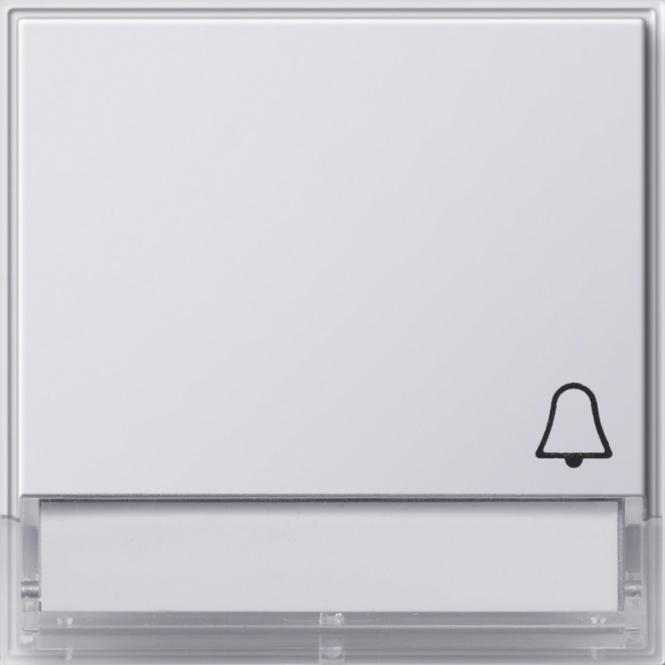 GIRA 067366 Wippe mit Symbol -Klingel- und Beschriftungsfeld Reinweiß