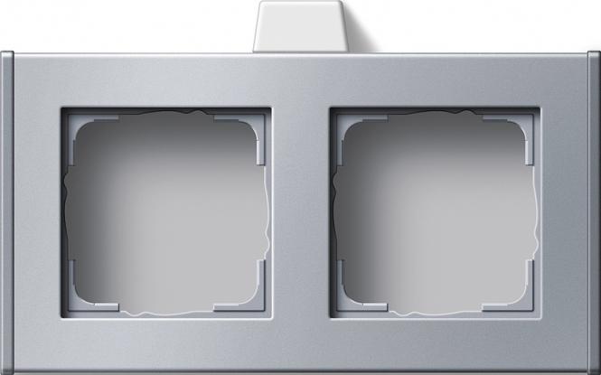 Gira 136726 Profil 55 waagerecht mit mittiger Leitungszuführung 2 fach