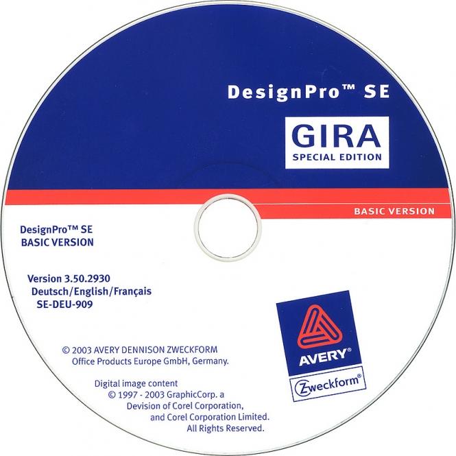 gira 142300 beschriftungssoftware designpro edition gira online kaufen im voltus elektro shop. Black Bedroom Furniture Sets. Home Design Ideas