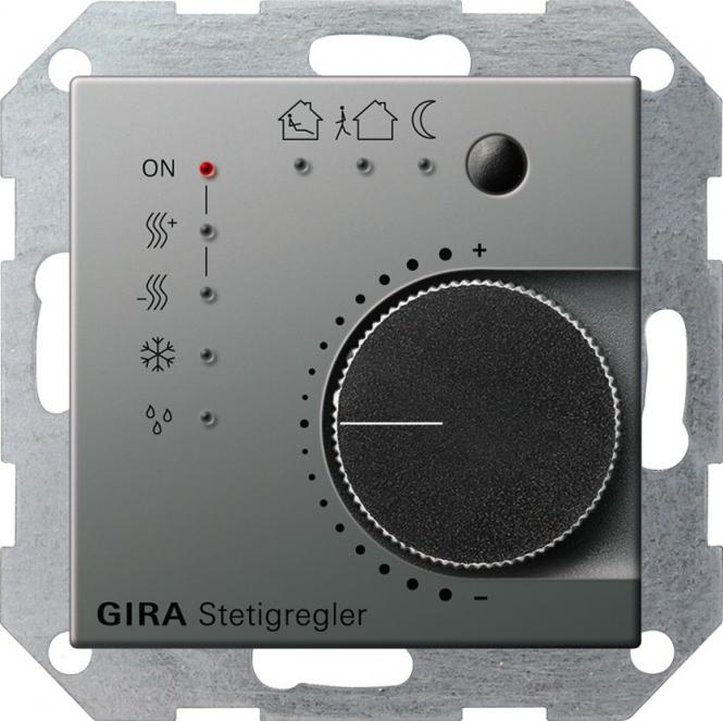 gira 210020 knx stetigregler mit tasterschnittstelle 4fach online kaufen im voltus elektro shop. Black Bedroom Furniture Sets. Home Design Ideas