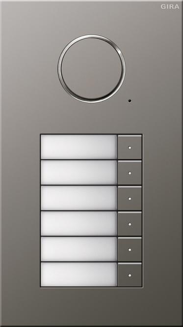 gira 250620 t rstation edelstahl audio unterputz 6fach 6. Black Bedroom Furniture Sets. Home Design Ideas
