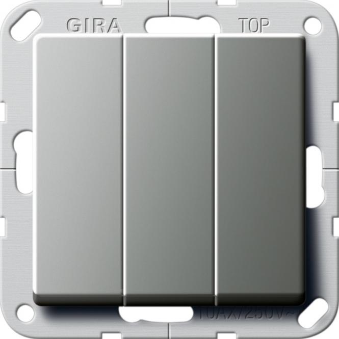 gira 283220 wippschalter 3fach universal aus wechselschalter online kaufen im voltus elektro shop. Black Bedroom Furniture Sets. Home Design Ideas